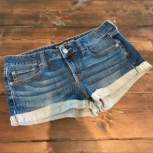 Express brand denim shorts